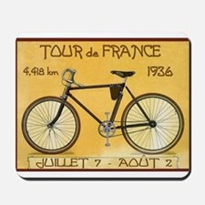 Tour de France, Bicycle, Vintage Poster Mousepad