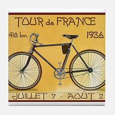 Tour de France, Bicycle, Vintage Poster Tile Coast