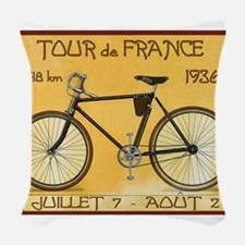 Tour de France, Bicycle, Vintage Poster Woven Thro