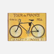 Tour de France, Bicycle, Vintage Poster 5'x7'Area