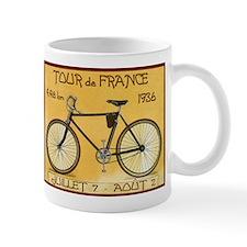 Tour de France, Bicycle, Vintage Poster Small Mugs