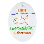 Little Fisherman Oval Ornament