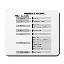 Baby Owner's Manual Mousepad