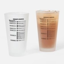 Baby Owner's Manual Drinking Glass