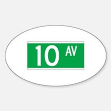 10th Ave., New York - USA Oval Decal
