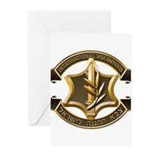 IDF International Volunteer Emblem Greeting Cards
