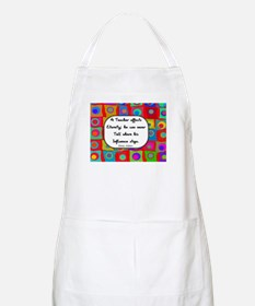 A teacher affects eternity RED Apron
