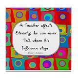 A teacher affects eternity Drink Coasters