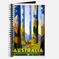 Antique Australia Nature Travel Poster Journal