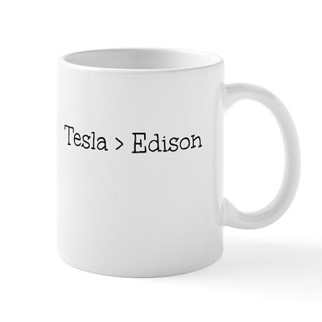 Tesla > Edison Mug