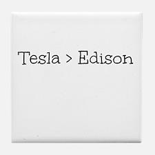 Tesla > Edison Tile Coaster