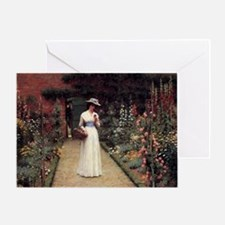 Lady in a Garden Greeting Card