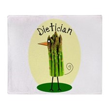 Dietician Bird 1 Throw Blanket