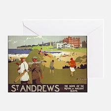 Saint Andrews, Golf, Vintage Poster Greeting Card
