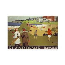 Saint Andrews, Golf, Vintage Poster Rectangle Magn