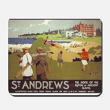 Saint Andrews, Golf, Vintage Poster Mousepad