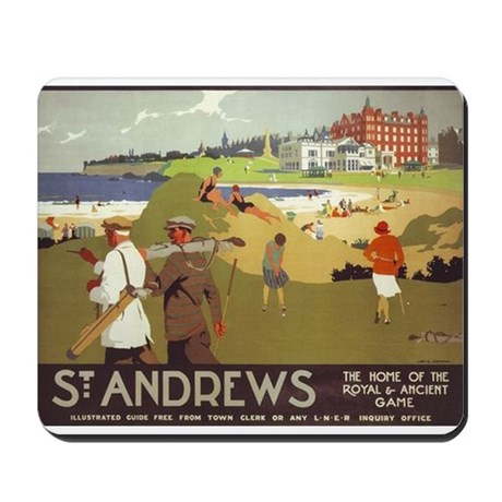 Saint Andrews, Golf, Vintage Poster Mousepad