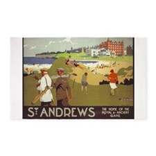 Saint Andrews, Golf, Vintage Poster 3'x5' Area Rug