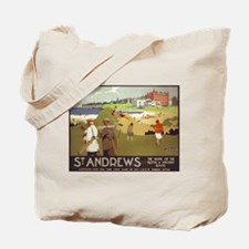 Saint Andrews, Golf, Vintage Poster Tote Bag