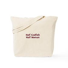 Half CODFISH Half Woman Tote Bag