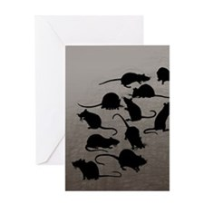 Lots Of Rats Greeting Card