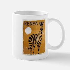 Kenya, Zebra, Vintage Poster Mug
