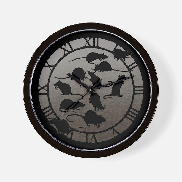 Lots Of Rats Wall Clock