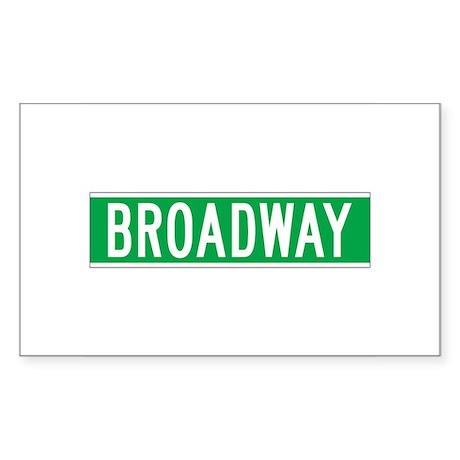 Broadway, New York - USA Rectangle Sticker