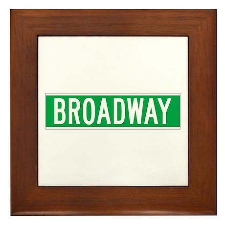 Broadway, New York - USA Framed Tile