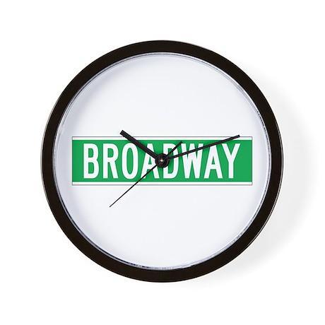 Broadway, New York - USA Wall Clock