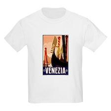 Antique Venice Gondolas Travel Poster T-Shirt