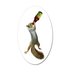 Squirrel Drinking Beer Wall Decal