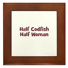 Half CODFISH Half Woman Framed Tile
