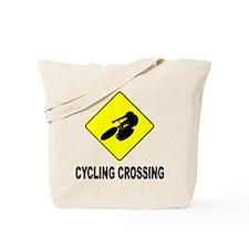 Cycling Crossing Tote Bag