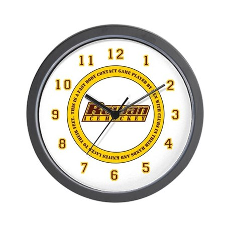 Rowan Hockey Wall Clock