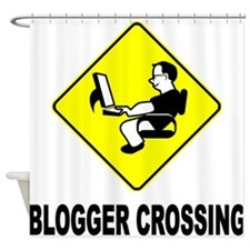 Blogger Crossing Shower Curtain