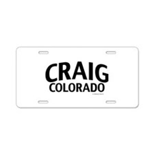 Craig Colorado Aluminum License Plate