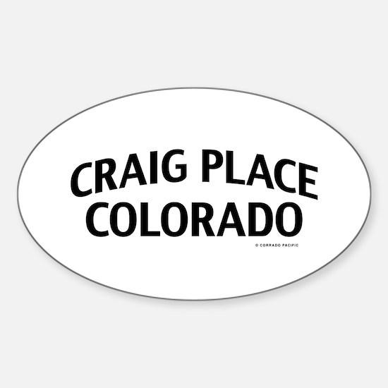 Craig Place Colorado Decal