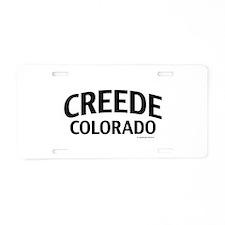 Creede Colorado Aluminum License Plate