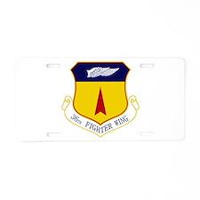 36th FW Aluminum License Plate