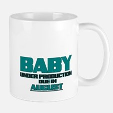 BABY UNDER PRODUCTION DUE IN AUGUST TEAL FUNNY MAT