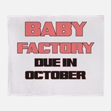 BABY FACTORY DUE IN OCTOBER PINK FUNNY MATERNITY T