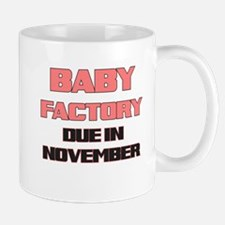 BABY FACTORY DUE IN NOVEMBER PINK FUNNY MATERNITY