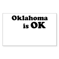 Oklahoma is OK Decal