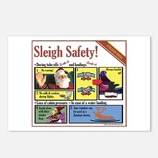 Sleigh Safety Postcards (Package of 8)