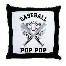Baseball Pop Pop Throw Pillow