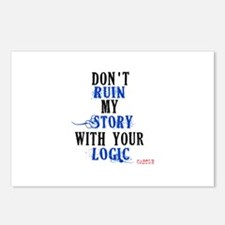 Don't Ruin My Story Quote (v3) Postcards (Package
