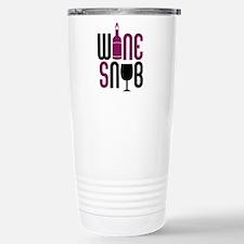 Wine Snob Stainless Steel Travel Mug