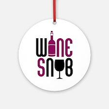 Wine Snob Ornament (Round)