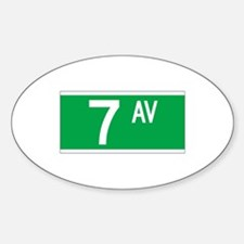 7th Ave., New York - USA Oval Decal